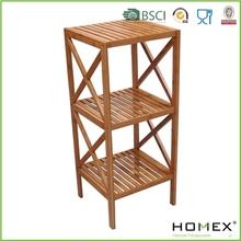 Bamboo Bathroom Shelf /4 Tier Bamboo Shelf /Bathroom Corner Collection/Homex_BSCI