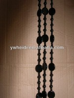 fashion black beads crystal curtain