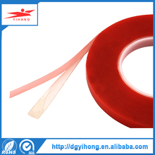 Transparent PET film acrylic adhesive double sided polyester tape with red liner