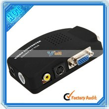 AV S-Video RCA to VGA Video Converter Switch PC TV (C0027BL)