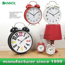 Metal Promotional Twin Bell Alarm desk clock accept paypal