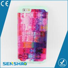 Cheap customer design PC+silicone Case For iphone 6plus 2 in 1Case ,multicolour pattern