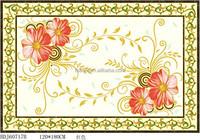 Decor golden flower ceramic polished carpet tile flooring prices