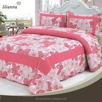 100% cotton big flower 3d girls bedding set