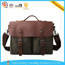 shoulder handbag messenger school leather handle men's canvas bags