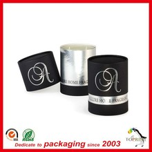 natural raw material luxury candle box cylinder shaped tube custom high end quality wholesale candle box hot stamping