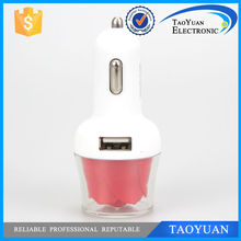 Taoyuan Long-period colorful dual usb car charger,micro car chargers usb