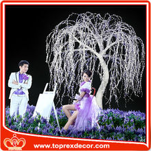 Manufacturer White led willow tree wedding decoration
