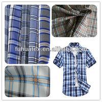 100% polyester plaid taffeta fabric