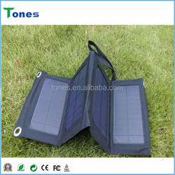 2015 Popular Products Solar Charger Foldable Light Weight Power Bank For Iphone, Mobile Phone, etc.