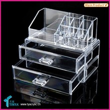 New Products 2015 Innovative Products Acrylic Makeup Holder With Two Drawers