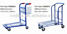 big volume flat trolley for shopping