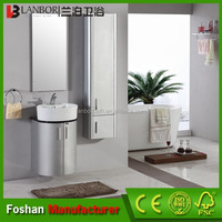 2014 modern wall mount round bathroom vanity cabinet with storage cabinet FS043