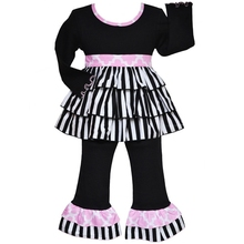 Wholesale black clothing fall halloween boutique thanksgiving outfit