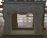 China cheap marble fireplace surround with column Wholesaler Price