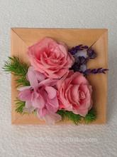 Cornice decorata da fiore conservato per il regalo di natale/regalo di compleanno