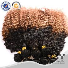 Wholesale two tone peruvian hair weaving kinky curly,human hair beyonce weaving