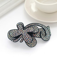 Fashion Women Colorful Crystal Resin Butterfly Hair Clip Wholesale