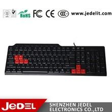 Últimas barato USB teclado de la computadora con color teclas