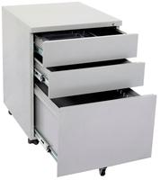 (DL-M1) Factory Wholesale KD Metal Mobile Pedestal 3 Drawer Units