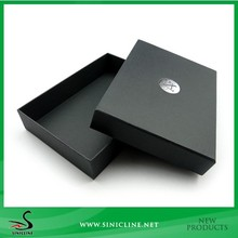 Sinicline Rectangle Black Box for Luxury with Silver Logo