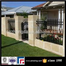 hot sale wrought iron fence used, iron fence prefabricated, models wrought iron fence