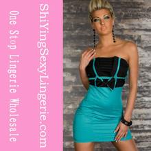 vente en gros bleu foncé coréen robes nouvelle mode vestimentaire 2013