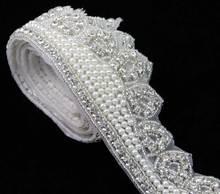 Latest Fashion Stunning Handcrafted Crown Rhinestone Pearl Trimming R2719F01