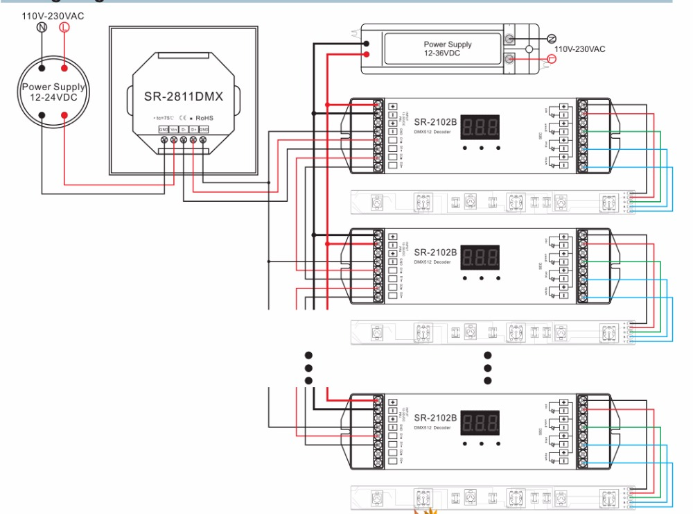 dmx512 rgbw led dmx controller sr 2811dmx buy dmx controller rh alibaba com DMX Out Pin 3-Pin DMX a Wire