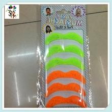 6pcs Halloween Stylish Colors Funny Fake Party Moustache HPC-1663
