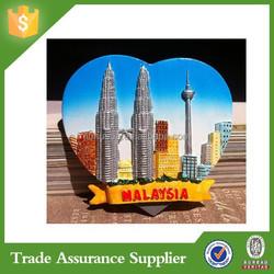 Factory Custom Malaysia Resin Tourist Souvenir Fridge Magnet wholesale