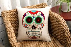 40*40 cm human skeleton printed throw pillows case STPC018