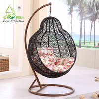 Best Selling Outdoor Patio Living Room Resin Wicker Hanging Basket Adult Swing Chair