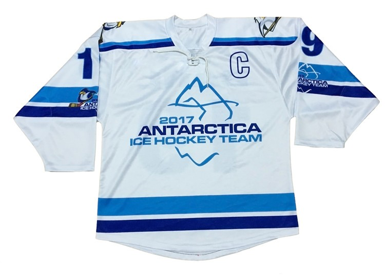 ice hockey wear custom half and half jerseys