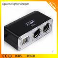 Twin socket dual usb para el coche cargador de mechero para la venta wf-0030