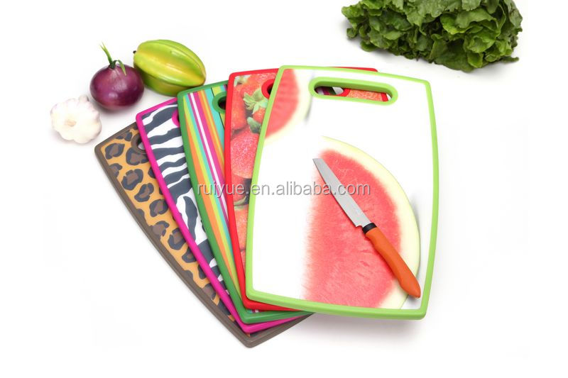 2015NEW PRODUCT PLASTIC CUTTING CHOPPING SLICING BOARD KITCHEN FOOD MEAT FRUIT FISH VEGETABLES LY37231
