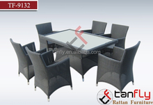 contemporary hot sale small spaces rattan furniture long dining table