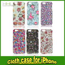 Mobile Phone Hard Plastic Cloth Case Covers For iPhone 6 6 Plus