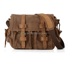 Men's Vintage Canvas Leather Shoulder School Military Messenger Bags