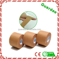 China Supplier Foot ball cotton zinc oxide adhesive skin color rigid tape sports