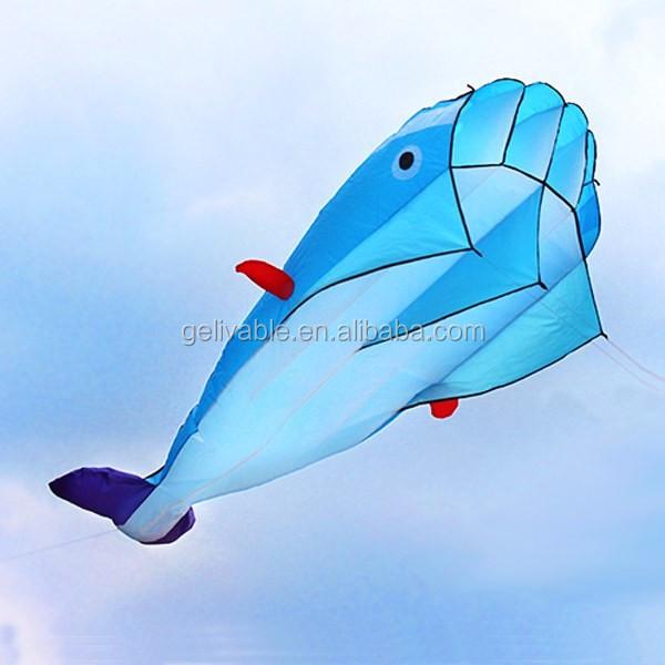 Single line easy flying no frame dolphin soft kite shipping free (4).jpg