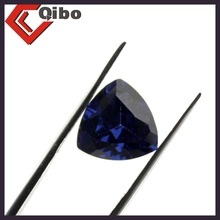 high quality trillion shape 10*10mm synthetic sapphire gems spinel