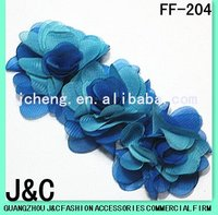 2012 Summer blue fabric flower for lady shoes