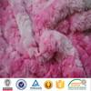 beautiful embossed rose swirlfur pv plush fabric for making soft toys