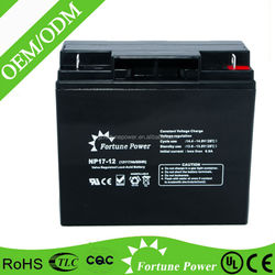Sufficient capacity sealed lead acid dry charged battery 12v 17ah battery