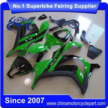 FFGKA009 Motorcycle ABS Bdoy Fairing For ZX10R ZX 10R 2011-2014 Green And Black 3