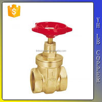 LINBO-C924 Forged copper high-pressure cw617n iron wheel handle 3/4 inch parts diagram wholesale Brass gate valve easy operation