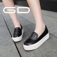 Alta calidad mujer patentes PU brillan los zapatos del holgazán negro cuero de la PU young girls zapatos casuales 2014