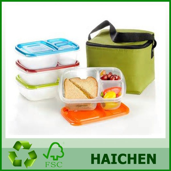 3 compartment plastic bento lunch box with bividers. Black Bedroom Furniture Sets. Home Design Ideas