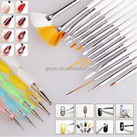 2015 new style acrylic nail art brush set 15 Nail brushes with 5 nail drill pen